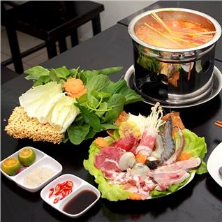 Cùng Mua - Lau hai san 01 nguoi + 1 ly Nha dam tai Banh Canh Hai San