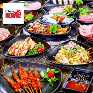 Cùng Mua - Buffet lau nuong Nhat Ban (120 mon)+ Trang mieng - Chiaki BBQ