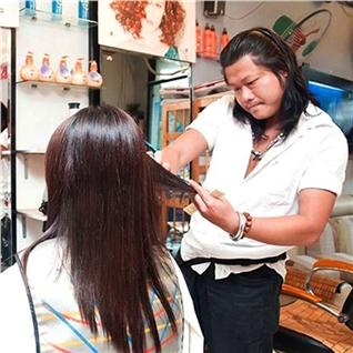 Cùng Mua - Phuc hoi Keratin + Cat toc + Dap mat na yen mach - Salon Tung