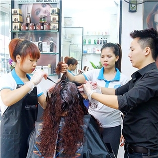 Cùng Mua - Cat + nhuom/phu bong (tang hap sieu muot) - Nhung Hair Salon
