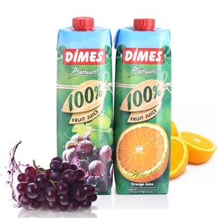 Cùng Mua - Combo 2 hop nuoc ep 100% nho - cam hieu Dimes (1 lit/hop)