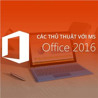 Cùng Mua - Khoa hoc 6 buoi thu thuat voi MS OFFICE 2016-Hoa Sen College