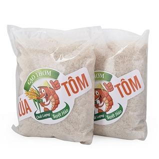 Cùng Mua - Combo 2 goi gao huu co lua tom (2kg/goi)