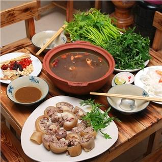 Cùng Mua - Set Lau Duoi Bo kem Rau, Banh Pho cho 2 nguoi - Hoi quan Kim+