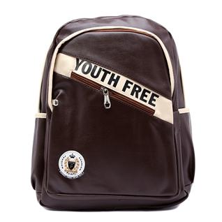 Cùng Mua - Balo laptop in chu Youth Free mau nau