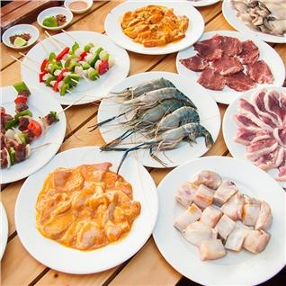 Cùng Mua - Buffet toi BBQ bo My, hai san, lau 80 mon - NH Flame
