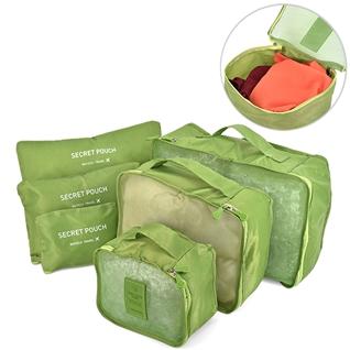 Cùng Mua (off) - Combo 6 tui bag in bags travel chong tham tien loi green