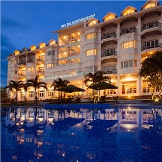 Cùng Mua - Ben Tre Riverside Resort 4* - An sang buffet - Khuyen mai soc