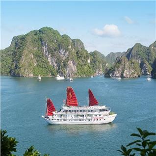 Cùng Mua - Hanh Trinh Vinh Ha Long 2N1D phong Deluxe - Syrena Cruises 5*