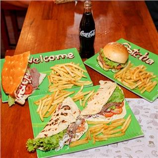 Cùng Mua - 1 Tacos/Burger/Kebab cuu + khoai tay + nuoc -Hamburger Gotcha