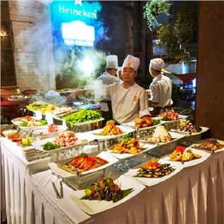 Cùng Mua - Buffet BBQ, sushi hon 50 mon - Wabar Saigon chi nhanh Quan 7