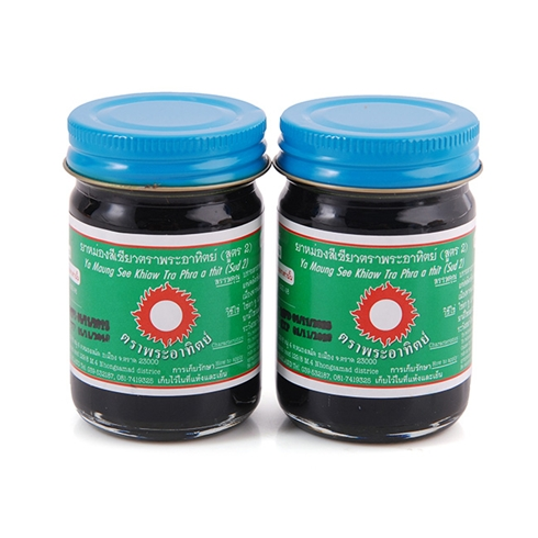 Combo 2 dầu cù là đen xoa bóp Thái Lan 60g -1607 trị đau nhức