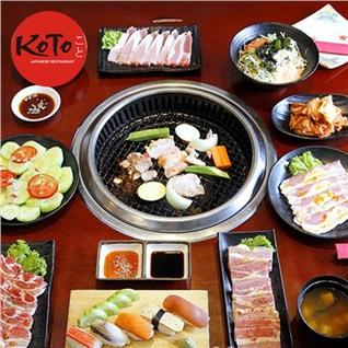 Cùng Mua - Buffet Set Nuong danh cho 1N, an khong gioi han tai Koto BBQ