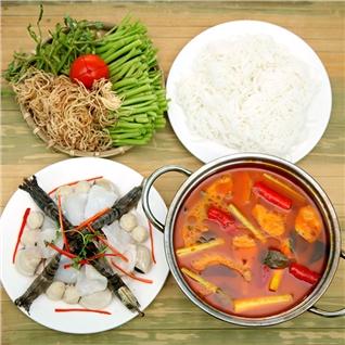 Cùng Mua - Combo lau + 4 mon nuong cho 3-4 nguoi tai Mon Que Quan