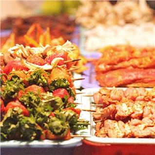 Cùng Mua - Buffet BBQ hon 40 mon - Wabar Saigon (ap dung cuoi tuan, le)