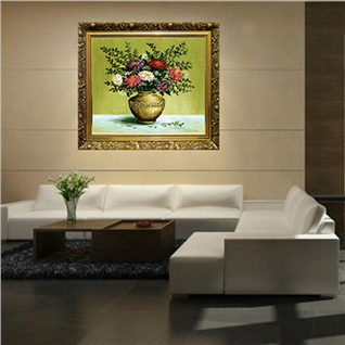Cùng Mua - Tranh Canvas Binbin co dien, sang trong co khung 50 x 50 cm