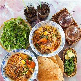 Cùng Mua - 2 Mi Quang + 2 nuoc ngot tai Mi Quang Quynh Khuong