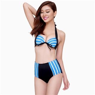 Cùng Mua - Set Bikini Cao Cap phoi soc xanh trang