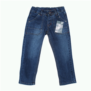 Cùng Mua - Quan jeans khuy nhi cho be tu 4-7 tuoi xanh