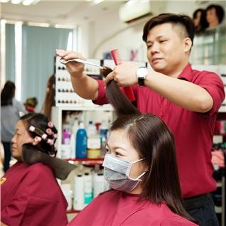 Cùng Mua - Set uon / duoi + nhuom + cat, goi, say tai World Nail va Salon