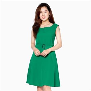 Cùng Mua - Dam xoe MARY kem nit thuong hieu khanh Linh mau xanh