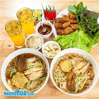 Cùng Mua - 2 to bun ca + 1 nem cua be + 2 chanh day - Bun Ca Hien Luong