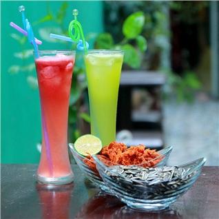Cùng Mua - Combo 2 nuoc ep trai cay va 2 mon an tai Garden Coffee