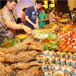 Cùng Mua - Buffet toi Teppanyaki + BBQ + Lau hon 40 mon an -Wabar Saigon