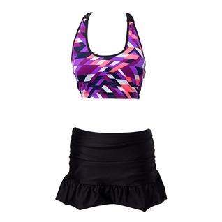 Cùng Mua - Set bikini ao hoa tiet lap the + quan vay H098