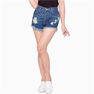 Cùng Mua - Quan short jean rach mau xanh