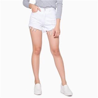 Cùng Mua - Quan short jean rach mau trang