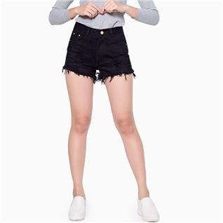 Cùng Mua - Quan short jean rach mau den