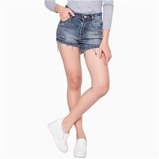 Cùng Mua - Quan short jean rach mau xam bac