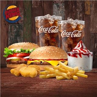 Cùng Mua - 1 trong 2 combo thuc an cuc hap dan tai He thong Burger King