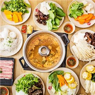 Cùng Mua - Buffet Rau Nam Kieu Thai tai Coca Suki Aeon Mall Binh Tan