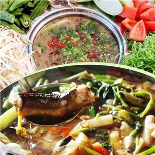 Cùng Mua - Lau luon bong chuoi cho 4 nguoi tai Nha hang Tan Hoa Cau
