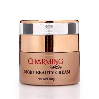 Cùng Mua - Kem duong trang da mat cao cap ban dem Charming Skin (50g)