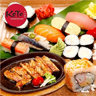 Cùng Mua - Set menu hap dan cho 1 nguoi tai Nha hang Koto BBQ Sushi