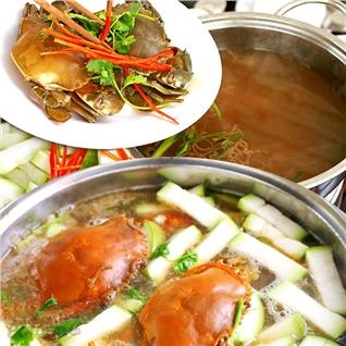 Cùng Mua - Lau Cua Nau Bau (02 con Cua Y Nhat 300g/con) - Cua Cang Phat