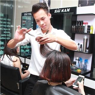 Cùng Mua - Tron goi cat + goi + hap + say tao kieu tai Salon toc Hai Nam