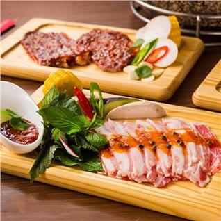 Cùng Mua - Buffet trua BBQ dac sac ngam pho di bo - Nha hang Suon No.1