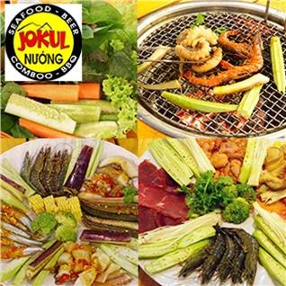 Cùng Mua - Combo 5 mon nuong cuc da kem rau tuoi tai he thong Jokul