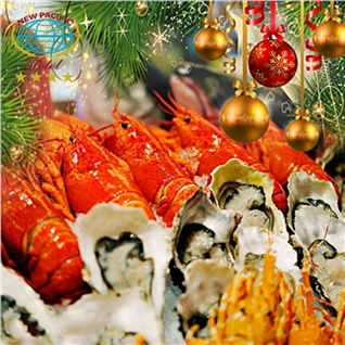 Cùng Mua - Tiec buffet Noel va Tet Tay hoanh trang tai New Pacific