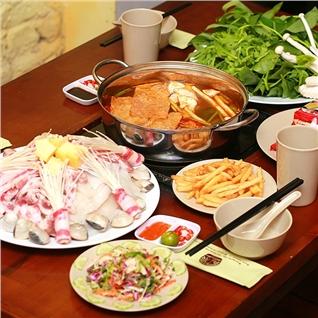 Cùng Mua - Set lau Thai Tom Yum + Hoa qua cho 4 nguoi - NH Nghien Lau