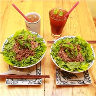Cùng Mua - Combo bun bo + tra dao/tra gao lut Nhat Ban tai Bun Bo Nam Bo