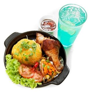 Cùng Mua - Set lunch 1 com ga tho hao hang + 1 soda dac biet tai Mr Ti