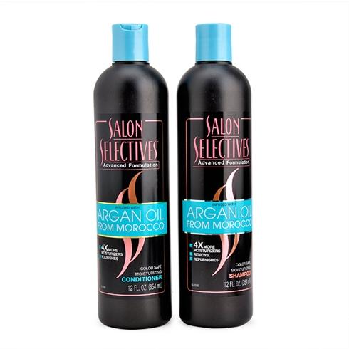 Combo dầu gội+dầu xả Salon Selectives Argan Oil 354 ml-Canada