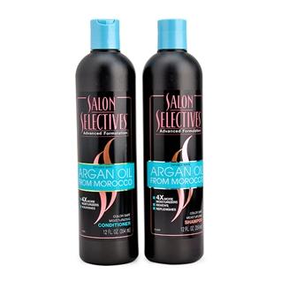 Cùng Mua - Combo dau goi+dau xa Salon Selectives Argan Oil 354 ml-Canada