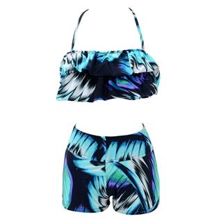 Cùng Mua - Set bikini phoi beo mau xanh H007