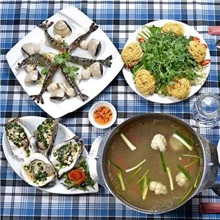 Cùng Mua - Set lau hai san + Hao nuong pho mai (4 con) - NH Hai Dang 1